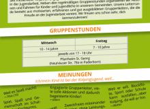 Neue Flyer für die Gruppenstunden (Rückseite)