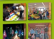 Neue Flyer für die Gruppenstunden (Vorderseite, Version 1)