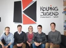 Der neue Vorstand der Kolpingjugend Paderborn-West bestehend aus Jacob, Thomas, Esther, Lukas und Benno.
