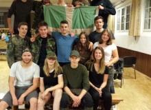 Gruppenfoto mit der Lagerleitung, der KJ St. Heinrich und uns.