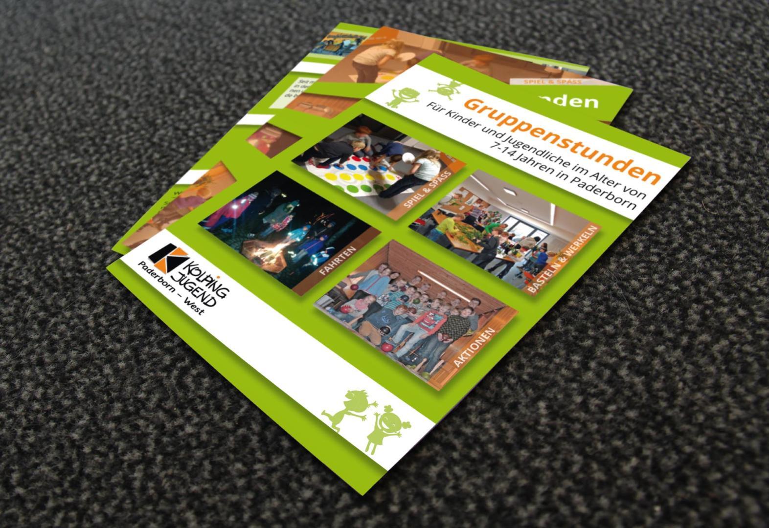 Neue Flyer für die Gruppenstunden