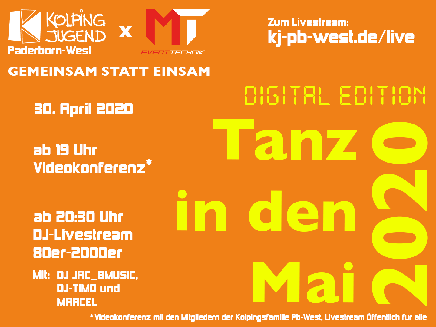 Tanz in den Mai 2020 – Livestream